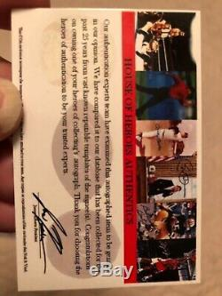 Lebron James Signed Rated Rookie High School Card WithCOA
