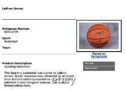 Lebron James Signed UDA Basketball 1/10/08 Career High 19 Rebounds NBA Game Ball