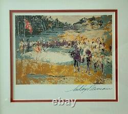 Leroy Neiman + Hand Signed + Golf + High Quality Print + Framed