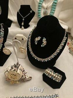 Lot Of Mid Century Designer Signed And High End Costume Jewelry