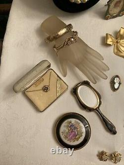 Lot Of Vintage Designer Signed High End Jewelry And Accessories
