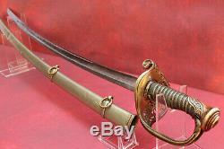 M1850 Civil War Sword & Scab Highly Engraved Klingenthal / Coulex Signed Solid