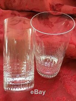 MIB FLAWLESS Exquisite BACCARAT Pair NANCY Art Crystal HIGH BALL TUMBLER GLASSES