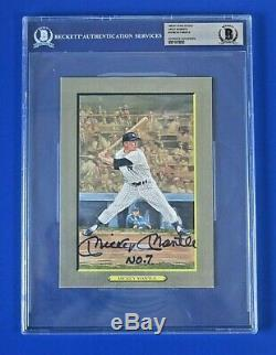MICKEY MANTLE SIGNED PEREZ STEEL Great Moments BECKETT AUTHENTIC HIGH GRADE