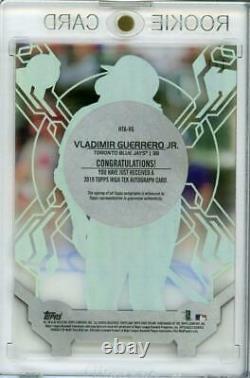 MLB Card 2019 Vladimir Guerrero Jr. Topps High Tek Autographs Rookie Gold 1/1