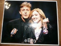 Madonna & Paul McCartney autographed photo The Beatles high rarity