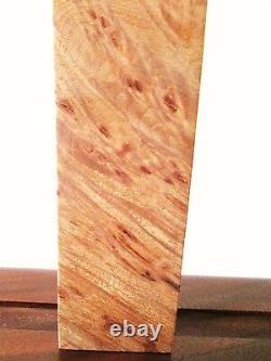 Maple Burl Wood Bookends Executive Desk Signed Michael Elkan Studio High End