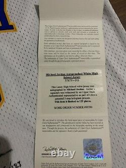 Michael Jordan Signed Laney High School Jersey Limited 5/123 UDA COA