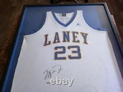 Michael Jordan UDA Autographed Jersey Rare Laney High Jersey Upper Deck COA