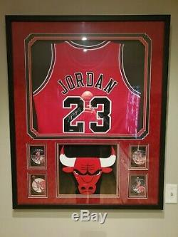 Michael Jordan Uda Upper Deck Authenticated High End Framed Signed Auto Jersey