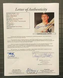 Mickey Mantle Signed 8x10 Photo Autographed HIGH GRADE AUTO JSA LOA Yankees HOF