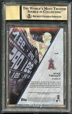 Mike Trout 2016 Topps High Tek Highlights Auto Autograph /25 Bgs 9.5/10 Angels
