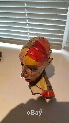 Modernist sculpture ceramic by zbigniew Chojnacki measures 7 inches high. Signed