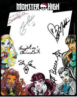 Monster High artists creators designers signed 2016 SDCC Mattel 8x10 promo photo