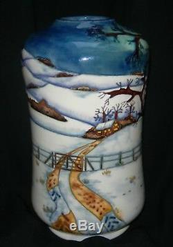 Moorcroft Woodside Farm Waisted Vase 8 High Signed Anji Davenport 1999
