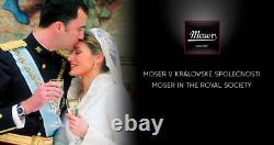 Moser Crystal Glass Adela Melikoff 24KT Gold Rim High Ball/Tumbler/Water/Water