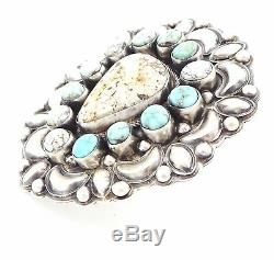 Navajo Sterling Silver High-Grade Dry Creek Turquoise Ring Size 7.5 -B. Johnson