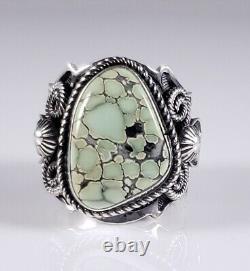 Navajo Sterling Silver Ring Rare High Grade Colina Verde Variscite Andy Cadman