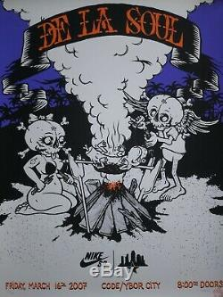 Nike SB De La Soul Todd Bratrud Print Poster Dunk High Low Signed
