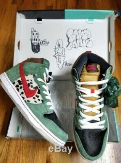 Nike SB Dunk High Dog Walker 420 Size 11.5 100% Authentic, Signed by Designers