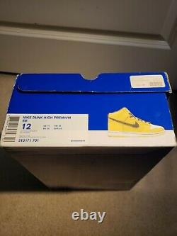Nike SB Dunk High Wet Floor Mens Size 12 SIGNED By Ian Williams NDS