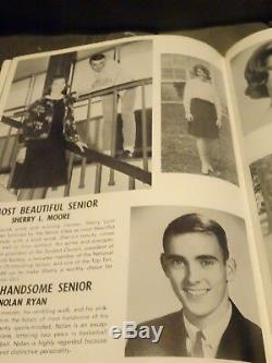 Nolan Ryan 1963, 1964, & 1965 Signed High School Yearbooks