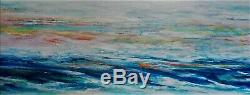 Original Abstract Painting 102x46cm Acrylic over Highly Textured Gesso Canvas
