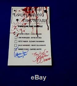 PJ Soles & William Katt Autographed 8x12 Bates High School Prom Ballot Carrie