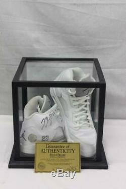 Pair of Game Worn Michael Jordan Autographed High Top Sneakers With COA