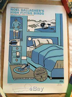 Pete McKee Noel Gallagher Signed Limited Edition Print Oasis High Flying Birds