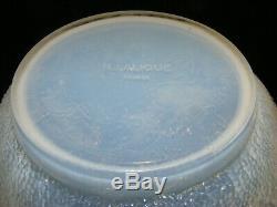 R. LALIQUE FRANCE Blue OPALESCENT Glass 11 high DAVOS VASE Model 1079 C1932