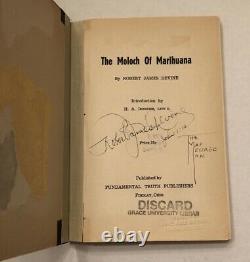 RARE 1938 Moloch Of Marihuana SIGNED Marijuana Reefer Madness High Times 1