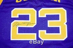RARE Michael Jordan Blue LANEY BUCS HIGH SCHOOL Jersey Signed! 10/10 Signature