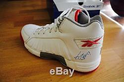 RARE YAO MING SIGNED HOUSTON ROCKETS CUSTOM RBK DMX HIGH POST SHOES WithCoa