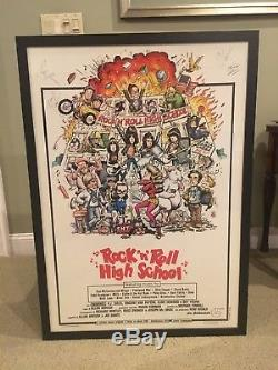 Ramones Rock N Roll High School Movie Poster Autograph Signed By All 6 JSA/LOA