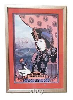 Rare David Palladini Signed Print The High Priestes Framed Wall Art Vintage