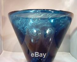 Rare & Highly Collectible Beautiful Graal Art Glass Vase Signed Frank Grenier