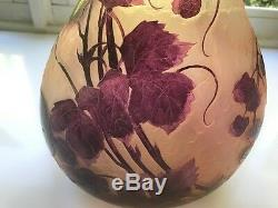 Rare Legras Signed Cameo Vase 26 High