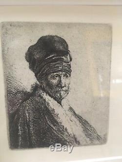 Rembrandt van Rijn Bust Of A Man Wearing A High Cap (the Artist Father) 1630