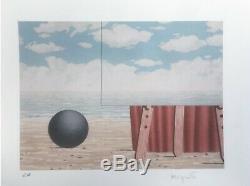 René Magritte La belle captive. Hand Signed High Quality Color Lithograph