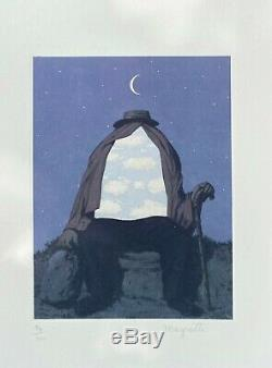 René Magritte The Therapist. Hand Signed High Quality Color Lithograph