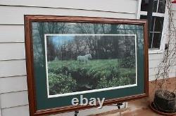 Robert Bateman High Camp at Dusk framed matted signed limited edition Print