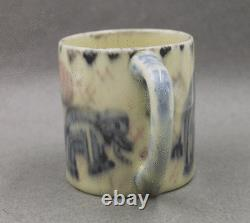 Rookwood Pottery Elephants Mug High Glaze 1930 Artist Signed Elizabeth Barrett