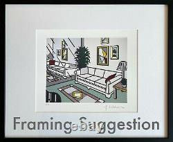 Roy Lichtenstein Living Room, from Interior Series. High Quality Lithograph