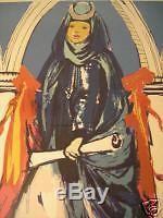 Salvador Dali Hand Signed Lithograph Lady Blue Or High Priestess Tarot Card 1979