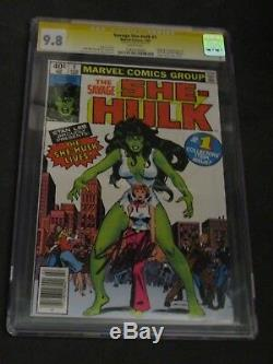 Savage She Hulk # 1 SIGNED STAN LEE 9.8 CGC SS Marvel She-hulk High Grade