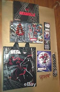 Sdcc 2013 Monster High Webarella Wydowna Spider Mattel Signed Print & Bag Set