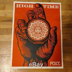 Shepard Fairey Obey Giant High Time For Peace 2005 Signed