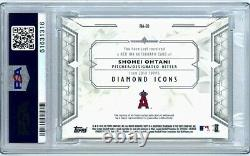 Shohei Ohtani 2018 Topps Diamond Icons Red Ink Auto Red /5 PSA 10 Super high-end