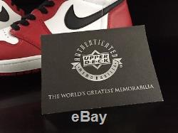 Signed 1985 Nike Air Michael Jordan Retro I High Og Rookie Shoes Autograph Uda